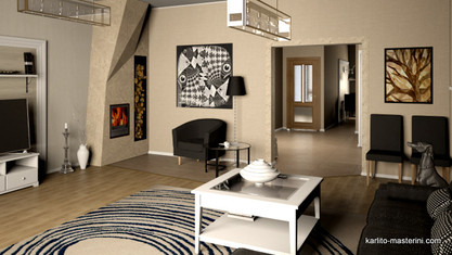 Дизайн проект гостинной