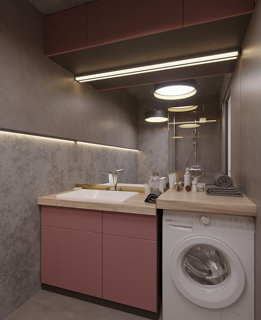 Дизайн проект уборной комнаты