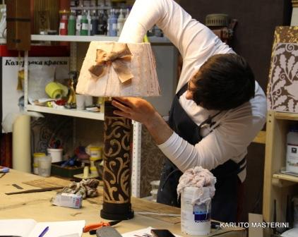 Мастер класс Создание настольной лампы (