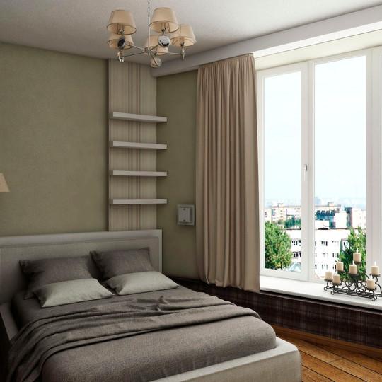 Дизайн проект спльной комнаты