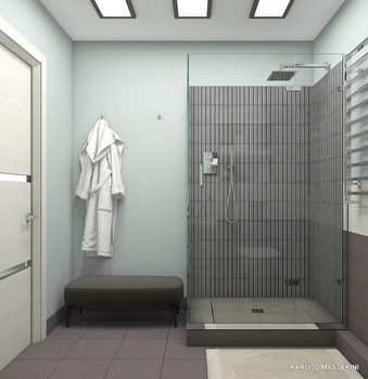 Дизайн проект душевой комнаты