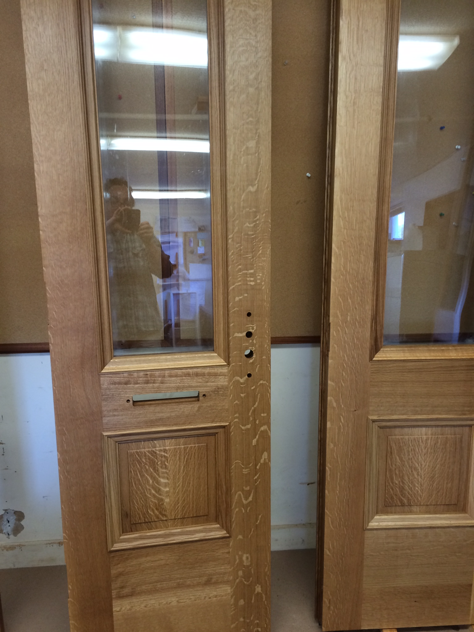 Custom White Oak Doors