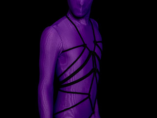 Zentai, ropes and chains