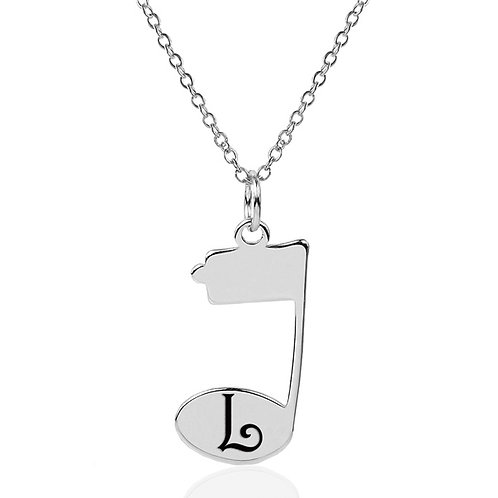 """Personalized """"Music Note"""" Necklace"""