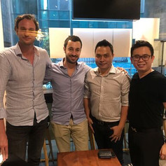 Master Trainer Andy with the Founding Members of Lazada and Singapore's OneMart Owner Andy老師和Lazada創辦人和新加坡Onemart老闆