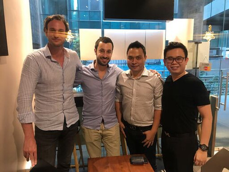 Master Trainer Andy with the Founding Members of Lazada and Singapore's OneMart Owner