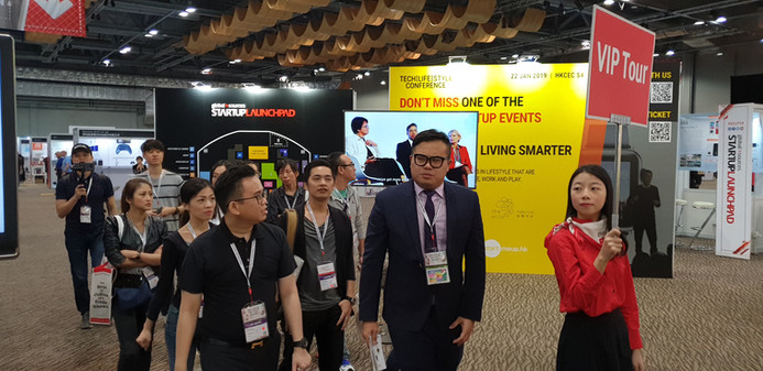 VIP Tour in Global Source Hong Kong Exhibition