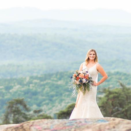 Bald Rock, SC Bridal Portraits