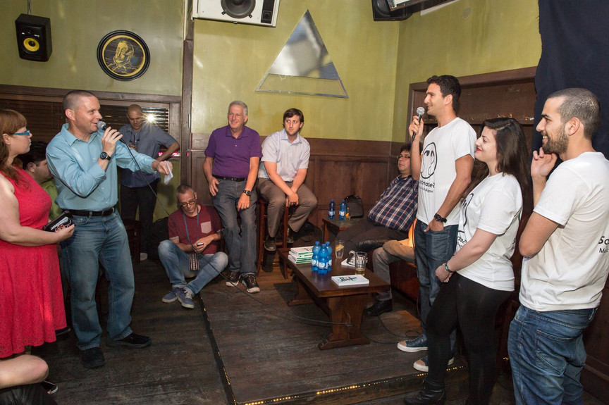 Pitching Soundmates at Alphabet Club