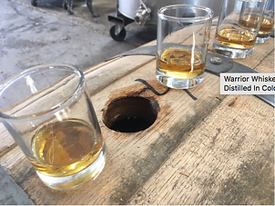 Image from the CBS4 feature about Colorado-made Warrior Whiskey