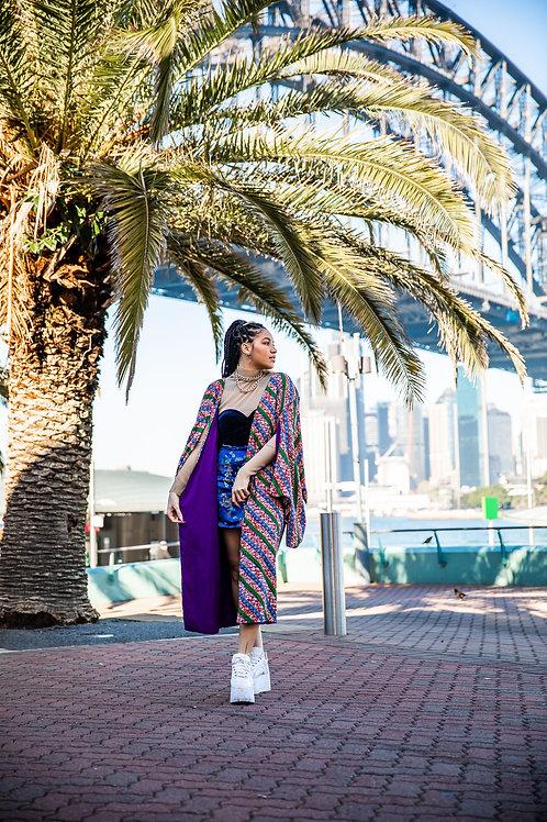 reversible cotton kimono