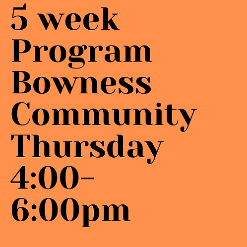 Thursday 2.5 and below 4:00 - 6:00pm