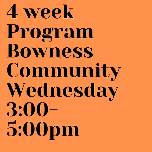 Wednesday 3:00 - 5:00 pm Bowness