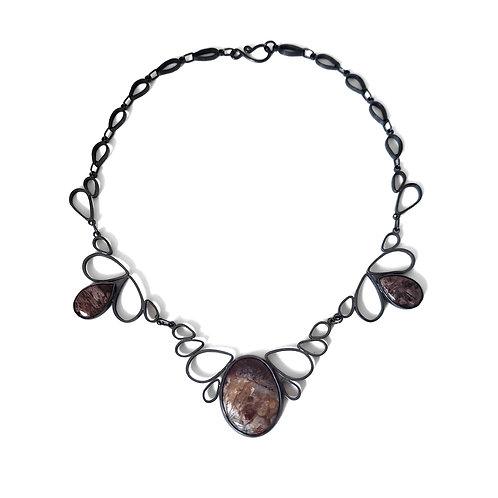 Jasper Lotus Necklace