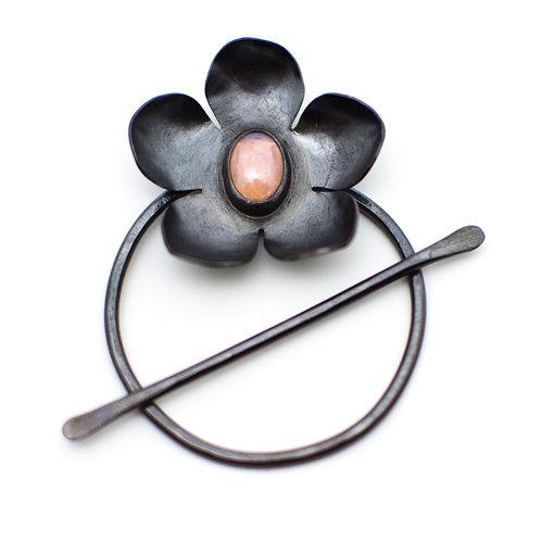 Opalite Flower Circle/Stick Pin