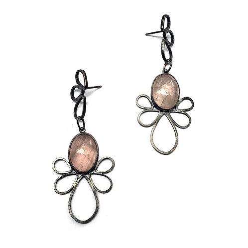 Rose Quartz Flora Earrings