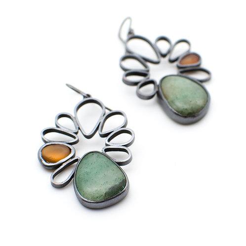 Opal Spring Blossom Earrings