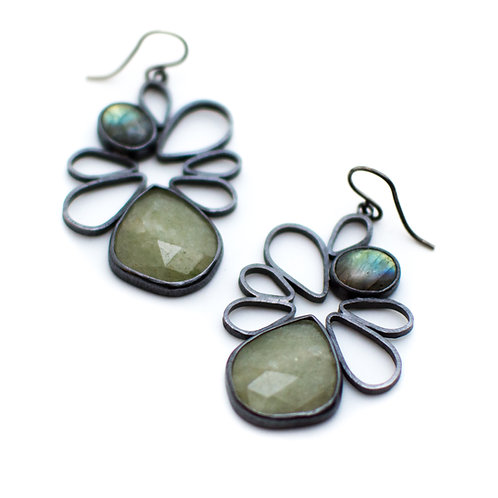 Aquamarine Spring Blossom Earrings
