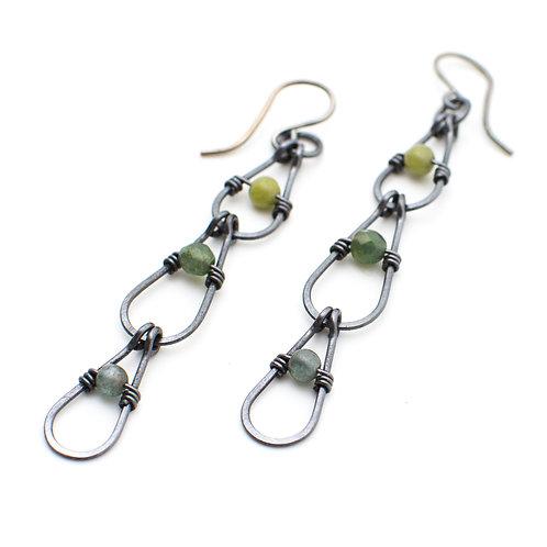 Cool-tone Chain Earrings