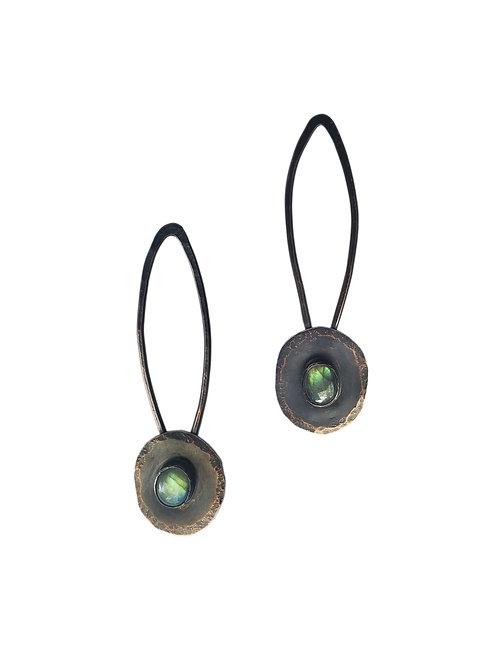 Labradorite Post Drop Earrings