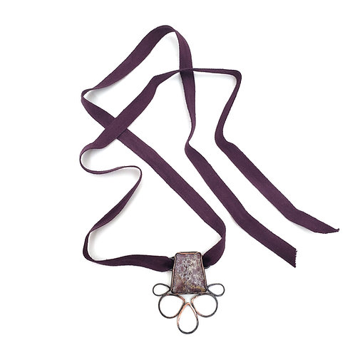 Purple Agate Charm Necklace