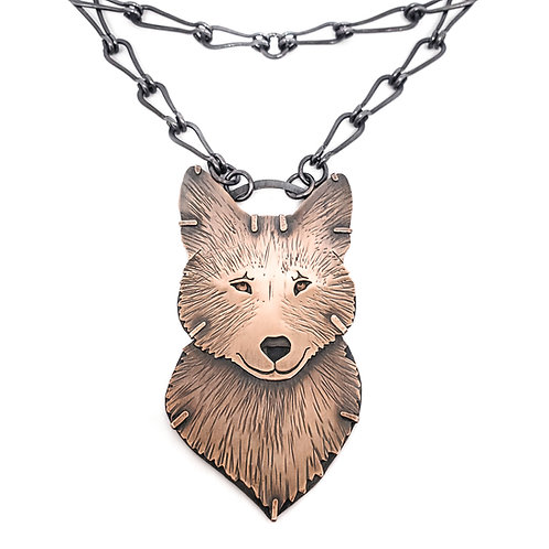 Eastern Redwolf Necklace