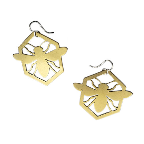 Large Honeybee Earrings