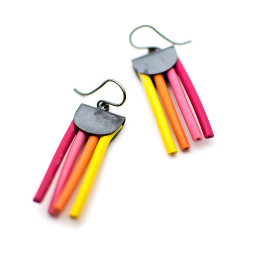 {SUNSET} Electric Color Pop Earrings