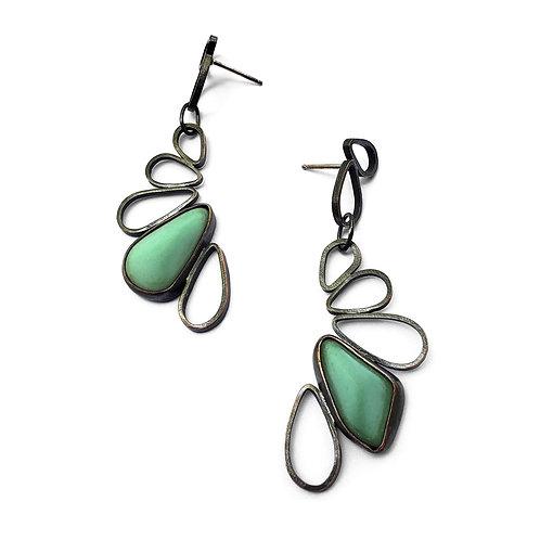 Variscite Aqua Pipetal Earrings