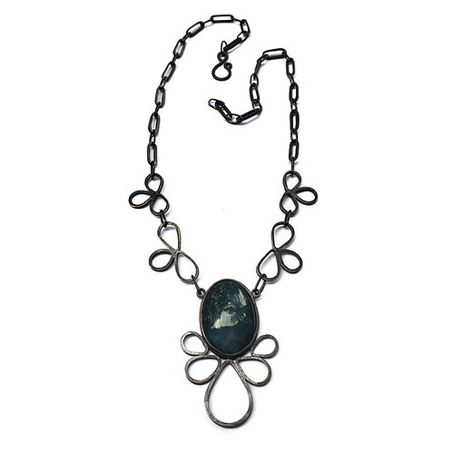 Mossy Agate Pipetal Necklace