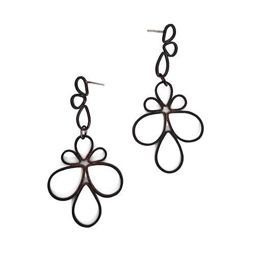 Duel-Tier Pipetal Earrings