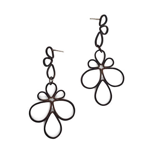Dual-Tier Pipetal Earrings