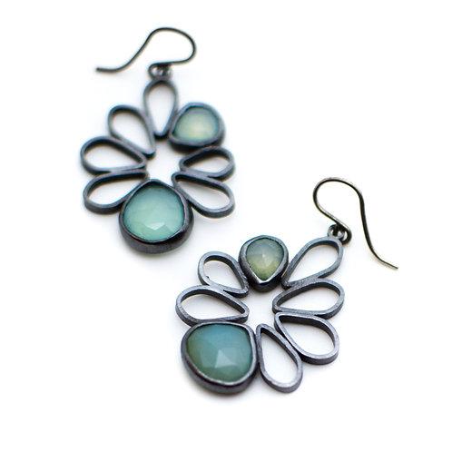 Aqua Spring Blossom Earrings