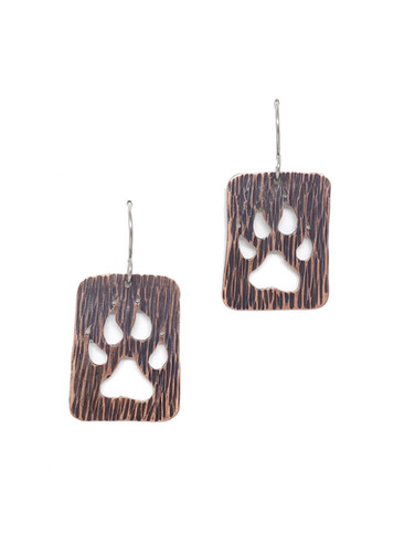 Paw Print Earrings, bark texture.jpg