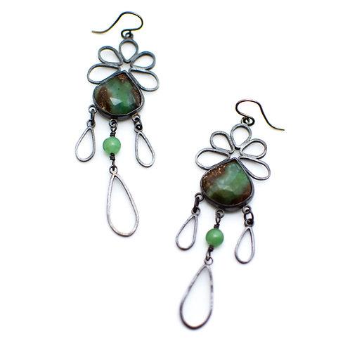 Chalcedony Chandelier Earrings