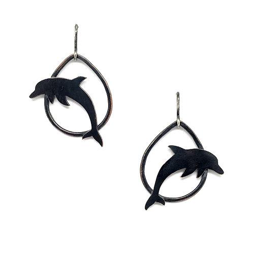 Dolphin Silhouette Earrings