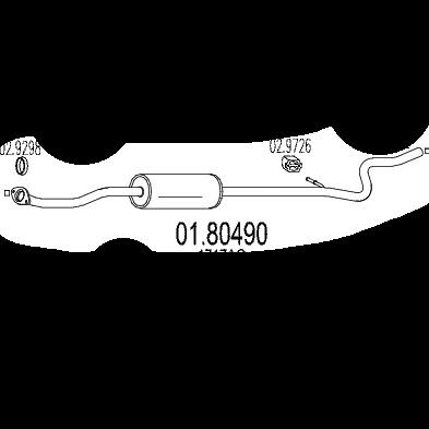 Citroen C4 Exhaust Middle Silencer Back Box