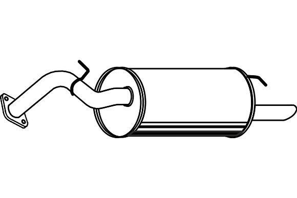 TOYOTA YARIS Exhaust Rear Silencer Back Box