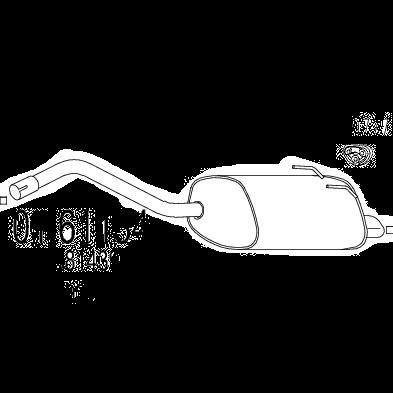 Ford KA MK2 Exhaust Rear End Silencer Chrome Tailpipe