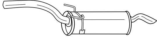 Citroen Dispatch Exhaust Rear End Silencer