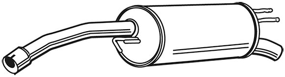 Fiat Stilo 192 Exhaust Rear End Silencer