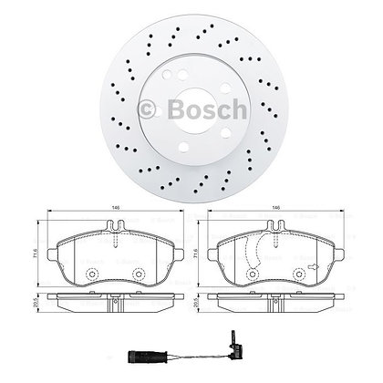 Mercedes C Class 204 Front Disc Drilled & Pads