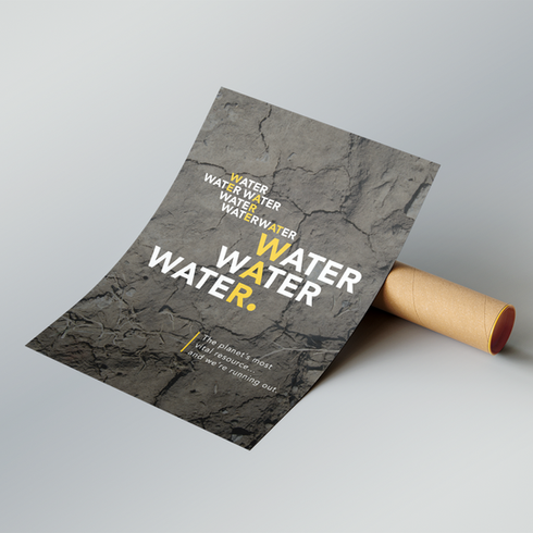 Water Scarcity Eco-friendly Poster