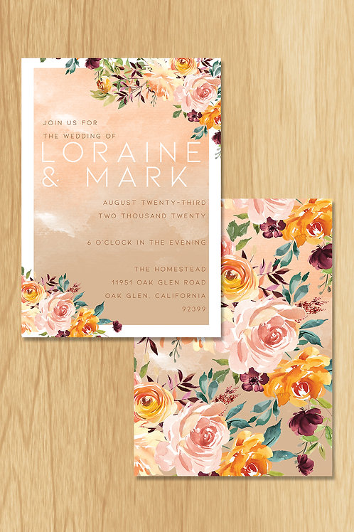 Lorine- Wedding Invite