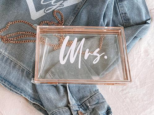 """Mrs."" Hard Acrylic Clutch"