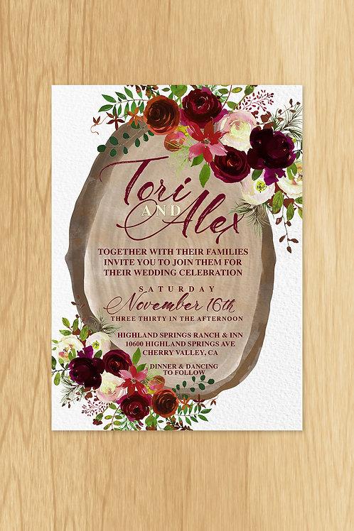 Tori- Wedding Invite