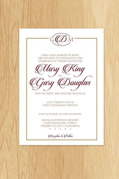 Mary - Wedding Invite