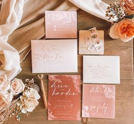 Terra cotta Wedding Invites