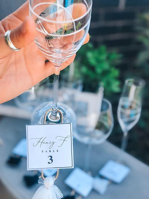 Drink Tag Escort Cards