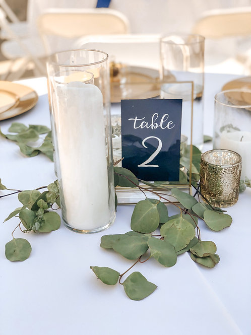 Hand Lettering Table Numbers